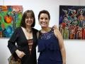 Junto a la reconocida artista Teté Marella, curadora de la muestra.